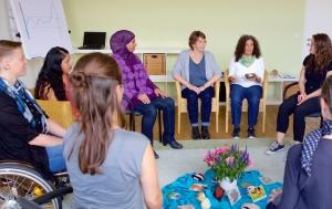 Foto Gruppen für Frauen, die sexuelle Übergriffe erlebt haben