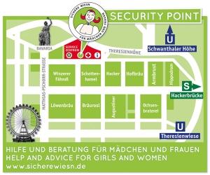 Übersichtsplan Sichere Wiesn für Frauen und Mädchen